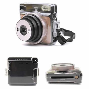 [Instax Square SQ6 Tasche] - CAIUL Kameratasche Schutzhülle mit PVC-Material für Instax SQ 6 Ex D Sofortbildkamera (Transparent) - 5