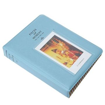 Fetoo 64 Taschen Mini Album Schutzhülle Foto Album Fotohüllen für Mini Fujifilm Instax Miini Film 7S/8/25/50/90, 14 * 11cm (Blau) - 2