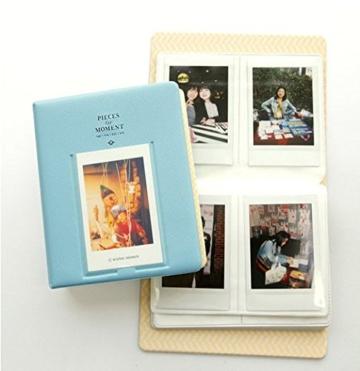 Fetoo 64 Taschen Mini Album Schutzhülle Foto Album Fotohüllen für Mini Fujifilm Instax Miini Film 7S/8/25/50/90, 14 * 11cm (Blau) - 4