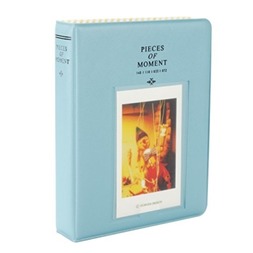 Fetoo 64 Taschen Mini Album Schutzhülle Foto Album Fotohüllen für Mini Fujifilm Instax Miini Film 7S/8/25/50/90, 14 * 11cm (Blau) - 1