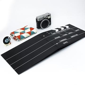 [Fujifilm Instax Mini Foto Album] - CAIUL 50 Seiten DIY Fotohüllen für Mini 70 7S 8 8+ 9 25 26 50 90/Pringo 231/Instax SP-1/Polaroid PIC-300P/Polaroid Z2300 Film (Film Schindel) - 3