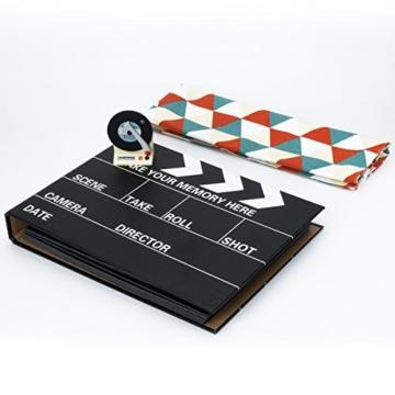 [Fujifilm Instax Mini Foto Album] - CAIUL 50 Seiten DIY Fotohüllen für Mini 70 7S 8 8+ 9 25 26 50 90/Pringo 231/Instax SP-1/Polaroid PIC-300P/Polaroid Z2300 Film (Film Schindel) - 4