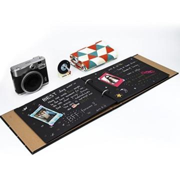 [Fujifilm Instax Mini Foto Album] - CAIUL 50 Seiten DIY Fotohüllen für Mini 70 7S 8 8+ 9 25 26 50 90/Pringo 231/Instax SP-1/Polaroid PIC-300P/Polaroid Z2300 Film (Film Schindel) - 5
