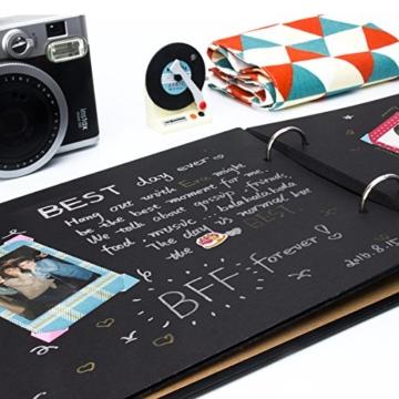 [Fujifilm Instax Mini Foto Album] - CAIUL 50 Seiten DIY Fotohüllen für Mini 70 7S 8 8+ 9 25 26 50 90/Pringo 231/Instax SP-1/Polaroid PIC-300P/Polaroid Z2300 Film (Film Schindel) - 6