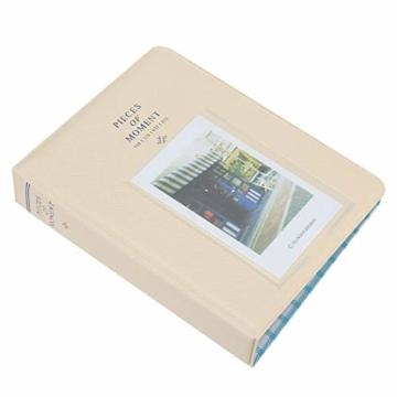StillCool FotoAlbum Fujifilm Instax Mini Fotobuch Fotohüllen erstellen Speziell Für Fujifilm Instax Miini Film 7S/8/25/50/90, 14*11cm, 64 Seiten,Rosa, blau, beige (beige) - 2