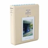 StillCool FotoAlbum Fujifilm Instax Mini Fotobuch Fotohüllen erstellen Speziell Für Fujifilm Instax Miini Film 7S/8/25/50/90, 14*11cm, 64 Seiten,Rosa, blau, beige (beige) - 1
