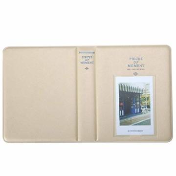 StillCool FotoAlbum Fujifilm Instax Mini Fotobuch Fotohüllen erstellen Speziell Für Fujifilm Instax Miini Film 7S/8/25/50/90, 14*11cm, 64 Seiten,Rosa, blau, beige (beige) - 4