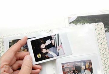 StillCool FotoAlbum Fujifilm Instax Mini Fotobuch Fotohüllen erstellen Speziell Für Fujifilm Instax Miini Film 7S/8/25/50/90, 14*11cm, 64 Seiten,Rosa, blau, beige (beige) - 6