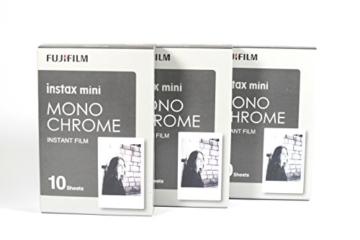 Fujifilm 16531958 Instax 3x10 Film Mini Kamera, Monochrome WW1 schwarz/weiß - 1