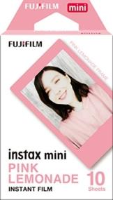 Fujifilm Instax Mini Colorfilm mit Rahmen, 62 x 46 mm Rosa Lemonade - 1