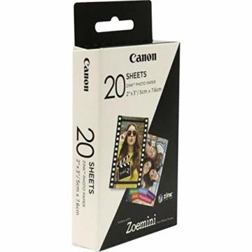 Canon 3214C002 Zink Papier ZP-2030, 20 Blatt für Zoemini - 2