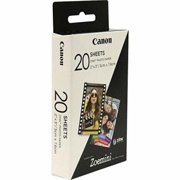 Canon 3214C002 Zink Papier ZP-2030, 20 Blatt für Zoemini - 3