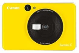 Canon Zoemini C digitale 5 MP Sofortbildkamera (Sucher, Blitzlicht, Micro-SD Kartenslot, Selfie Spiegel (11x8 mm), 5 x 7,6 cm Aufkleber, ZINK-Druck tintenfrei), bumblebee yellow - 1