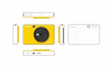 Canon Zoemini C digitale 5 MP Sofortbildkamera (Sucher, Blitzlicht, Micro-SD Kartenslot, Selfie Spiegel (11x8 mm), 5 x 7,6 cm Aufkleber, ZINK-Druck tintenfrei), bumblebee yellow - 2