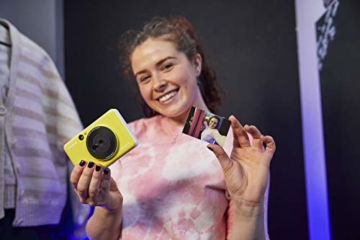 Canon Zoemini C digitale 5 MP Sofortbildkamera (Sucher, Blitzlicht, Micro-SD Kartenslot, Selfie Spiegel (11x8 mm), 5 x 7,6 cm Aufkleber, ZINK-Druck tintenfrei), bumblebee yellow - 4