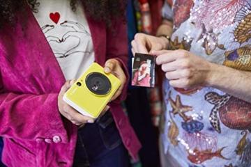 Canon Zoemini C digitale 5 MP Sofortbildkamera (Sucher, Blitzlicht, Micro-SD Kartenslot, Selfie Spiegel (11x8 mm), 5 x 7,6 cm Aufkleber, ZINK-Druck tintenfrei), bumblebee yellow - 5