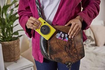 Canon Zoemini C digitale 5 MP Sofortbildkamera (Sucher, Blitzlicht, Micro-SD Kartenslot, Selfie Spiegel (11x8 mm), 5 x 7,6 cm Aufkleber, ZINK-Druck tintenfrei), bumblebee yellow - 6