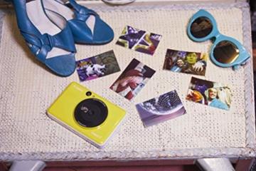 Canon Zoemini C digitale 5 MP Sofortbildkamera (Sucher, Blitzlicht, Micro-SD Kartenslot, Selfie Spiegel (11x8 mm), 5 x 7,6 cm Aufkleber, ZINK-Druck tintenfrei), bumblebee yellow - 7