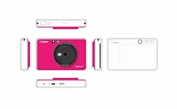 Canon Zoemini C digitale 5 MP Sofortbildkamera (Sucher, Blitzlicht, Micro-SD Kartenslot, Selfie Spiegel (11x8 mm), 5 x 7,6 cm Aufkleber, ZINK-Druck tintenfrei), bubble gum pink - 2