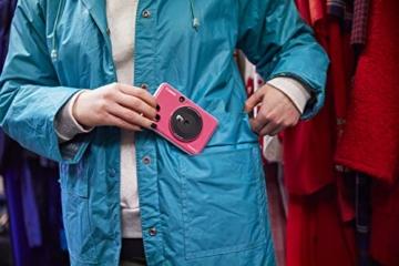 Canon Zoemini C digitale 5 MP Sofortbildkamera (Sucher, Blitzlicht, Micro-SD Kartenslot, Selfie Spiegel (11x8 mm), 5 x 7,6 cm Aufkleber, ZINK-Druck tintenfrei), bubble gum pink - 5