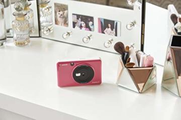 Canon Zoemini C digitale 5 MP Sofortbildkamera (Sucher, Blitzlicht, Micro-SD Kartenslot, Selfie Spiegel (11x8 mm), 5 x 7,6 cm Aufkleber, ZINK-Druck tintenfrei), bubble gum pink - 6