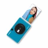 Canon Zoemini C digitale 5 MP Sofortbildkamera (Sucher, Blitzlicht, Micro-SD Kartenslot, Selfie Spiegel (11x8 mm), 5 x 7,6 cm Aufkleber, ZINK-Druck tintenfrei), seaside blue - 1