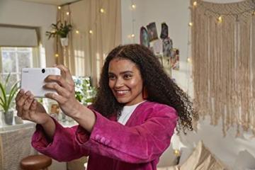 Canon Zoemini C digitale 5 MP Sofortbildkamera (Sucher, Blitzlicht, Micro-SD Kartenslot, Selfie Spiegel (11x8 mm), 5 x 7,6 cm Aufkleber, ZINK-Druck tintenfrei), seaside blue - 2