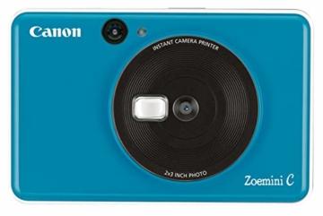 Canon Zoemini C digitale 5 MP Sofortbildkamera (Sucher, Blitzlicht, Micro-SD Kartenslot, Selfie Spiegel (11x8 mm), 5 x 7,6 cm Aufkleber, ZINK-Druck tintenfrei), seaside blue - 8