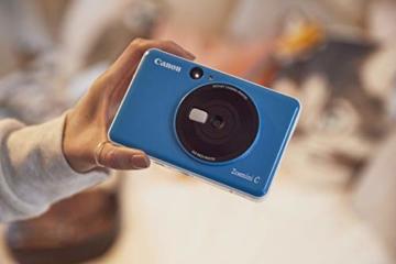 Canon Zoemini C digitale 5 MP Sofortbildkamera (Sucher, Blitzlicht, Micro-SD Kartenslot, Selfie Spiegel (11x8 mm), 5 x 7,6 cm Aufkleber, ZINK-Druck tintenfrei), seaside blue - 9