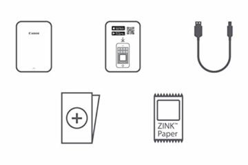Canon Zoemini Mobiler Mini-Fotodrucker (Akku, 5 x 7,5 cm Fotos, ZINK-Druck tintenfrei, für Handys iOS und Android via Bluetooth, 160 g) weiss - 3