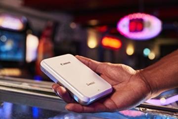 Canon Zoemini Mobiler Mini-Fotodrucker (Akku, 5 x 7,5 cm Fotos, ZINK-Druck tintenfrei, für Handys iOS und Android via Bluetooth, 160 g) weiss - 5