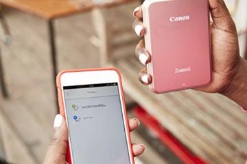 Canon Zoemini Mobiler Mini-Fotodrucker (Akku, 5 x 7,5 cm Fotos, ZINK-Druck tintenfrei, für Handys iOS und Android via Bluetooth, 160 g) weiss - 7