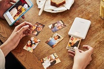 Canon Zoemini Mobiler Mini-Fotodrucker (Akku, 5 x 7,5 cm Fotos, ZINK-Druck tintenfrei, für Handys iOS und Android via Bluetooth, 160 g) weiss - 9