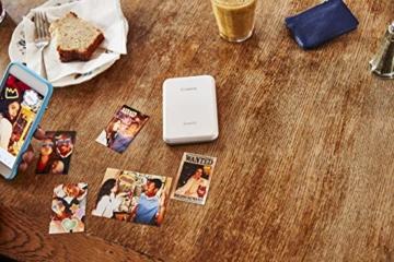 Canon Zoemini Mobiler Mini-Fotodrucker (Akku, 5 x 7,5 cm Fotos, ZINK-Druck tintenfrei, für Handys iOS und Android via Bluetooth, 160 g) weiss - 10