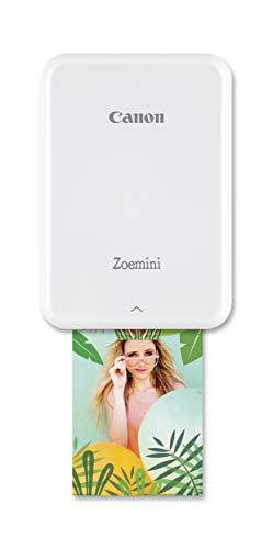 Canon Zoemini Mobiler Mini-Fotodrucker (Akku, 5 x 7,5 cm Fotos, ZINK-Druck tintenfrei, für Handys iOS und Android via Bluetooth, 160 g) weiss - 1