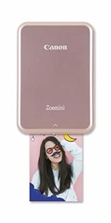 Canon Zoemini Mobiler Mini-Fotodrucker (Akku, 5 x 7,5cm Fotos, ZINK-Druck tintenfrei, für Handys iOS und Android via blautooth, 160 g) rosegold - 1