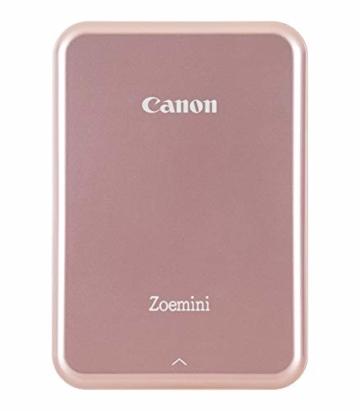 Canon Zoemini Mobiler Mini-Fotodrucker (Akku, 5 x 7,5cm Fotos, ZINK-Druck tintenfrei, für Handys iOS und Android via blautooth, 160 g) rosegold - 18