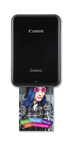 Canon Zoemini Mobiler Mini-Fotodrucker (Akku, 5 x 7,5cm Fotos, ZINK-Druck tintenfrei, für Handys iOS und Android via blautooth, 160 g) schwarz - 1
