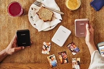 Canon Zoemini Mobiler Mini-Fotodrucker (Akku, 5 x 7,5cm Fotos, ZINK-Druck tintenfrei, für Handys iOS und Android via blautooth, 160 g) rosegold - 4