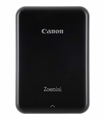 Canon Zoemini Mobiler Mini-Fotodrucker (Akku, 5 x 7,5cm Fotos, ZINK-Druck tintenfrei, für Handys iOS und Android via blautooth, 160 g) schwarz - 18