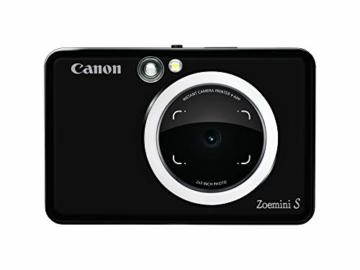 Canon Zoemini S digitale 8 MP Sofortbildkamera und Mini-Fotodrucker (Sucher, Ringblitz/ LED-Blitz, Micro-SD Kartenslot, Canon Mini Print App, ZINK-Druck tintenfrei), matte black - 5
