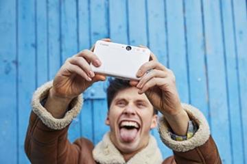 Canon Zoemini S digitale 8 MP Sofortbildkamera und Mini-Fotodrucker (Sucher, Ringblitz/ LED-Blitz, Micro-SD Kartenslot, Canon Mini Print App, ZINK-Druck tintenfrei), pearl white - 3