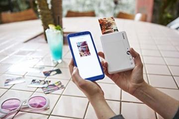 Canon Zoemini S digitale 8 MP Sofortbildkamera und Mini-Fotodrucker (Sucher, Ringblitz/ LED-Blitz, Micro-SD Kartenslot, Canon Mini Print App, ZINK-Druck tintenfrei), pearl white - 4