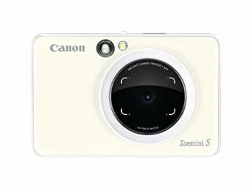 Canon Zoemini S digitale 8 MP Sofortbildkamera und Mini-Fotodrucker (Sucher, Ringblitz/ LED-Blitz, Micro-SD Kartenslot, Canon Mini Print App, ZINK-Druck tintenfrei), pearl white - 5