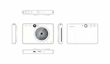 Canon Zoemini S digitale 8 MP Sofortbildkamera und Mini-Fotodrucker (Sucher, Ringblitz/ LED-Blitz, Micro-SD Kartenslot, Canon Mini Print App, ZINK-Druck tintenfrei), pearl white - 8