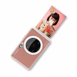 Canon Zoemini S digitale 8 MP Sofortbildkamera und Mini-Fotodrucker (Sucher, Ringblitz/ LED-Blitz, Micro-SD Kartenslot, Canon Mini Print App, ZINK-Druck tintenfrei), rose gold - 1