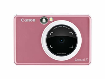 Canon Zoemini S digitale 8 MP Sofortbildkamera und Mini-Fotodrucker (Sucher, Ringblitz/ LED-Blitz, Micro-SD Kartenslot, Canon Mini Print App, ZINK-Druck tintenfrei), rose gold - 5