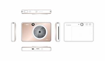 Canon Zoemini S digitale 8 MP Sofortbildkamera und Mini-Fotodrucker (Sucher, Ringblitz/ LED-Blitz, Micro-SD Kartenslot, Canon Mini Print App, ZINK-Druck tintenfrei), rose gold - 8