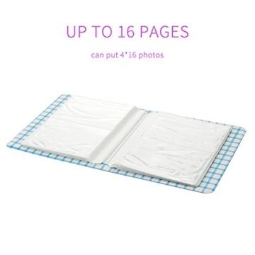 Fetoo 64 Taschen Mini Album Schutzhülle Foto Album Fotohüllen für Mini Fujifilm Instax Miini Film 7S/8/25/50/90, 14 * 11cm (Pink) - 2