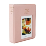 Fetoo 64 Taschen Mini Album Schutzhülle Foto Album Fotohüllen für Mini Fujifilm Instax Miini Film 7S/8/25/50/90, 14 * 11cm (Pink) - 1